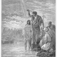 16094239-The-Baptism-of-Jesus-Picture-from-The-Holy-Scriptures-Old-and-New-Testaments-books-collection-publis-Stock-Photo
